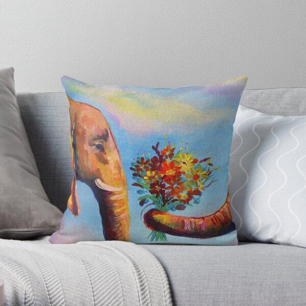 Cute Elephants  Throw Pillow