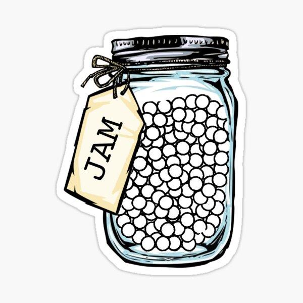 jam of pearls Sticker