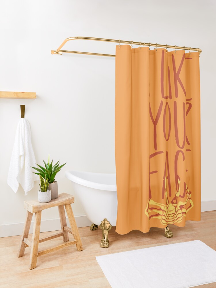 Alternate view of Facehugger Shower Curtain