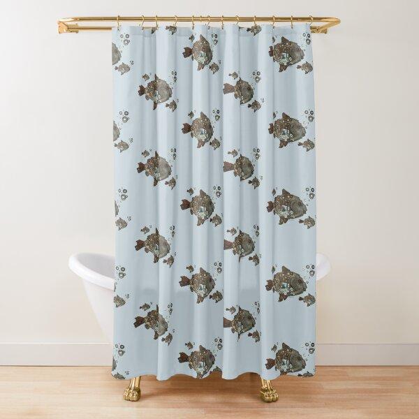 Sea-Bass-Tin the Fish Shower Curtain