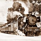 Steam On Snow by Clive