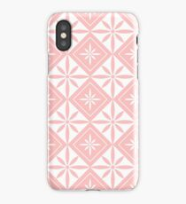 Light Pink 1950s Inspired Diamonds iPhone Case/Skin