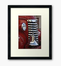 Fire Truck Front Grille Framed Print
