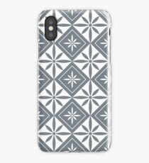 Cool Grey 1950s Inspired Diamonds iPhone Case/Skin