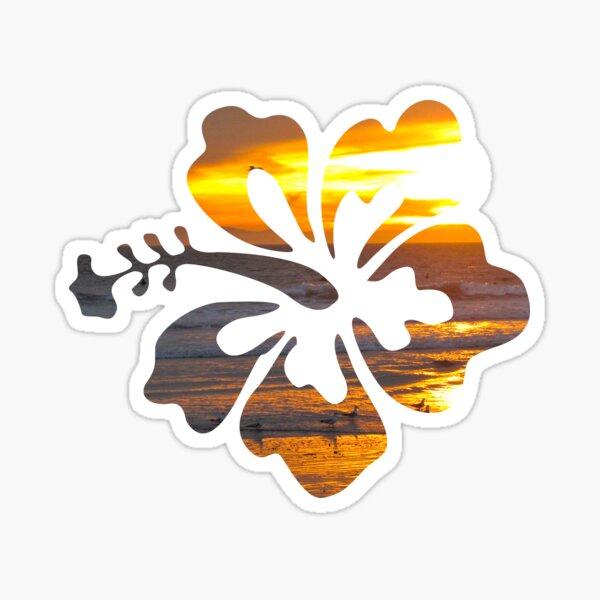 Pegatina Flor de hibisco surf Pegatina