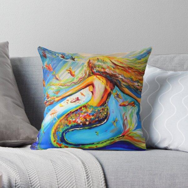 Mermaid Underwater Throw Pillow