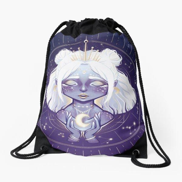 Lunar Guardian Drawstring Bag