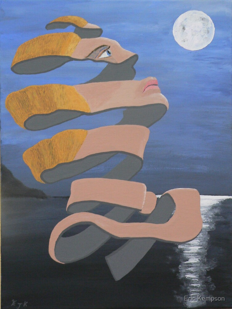 A-pealing looking at the moon by Eric Kempson