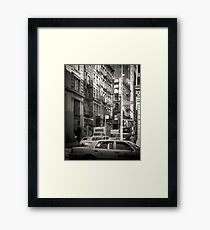 Toned streetscape in Broadway Framed Print