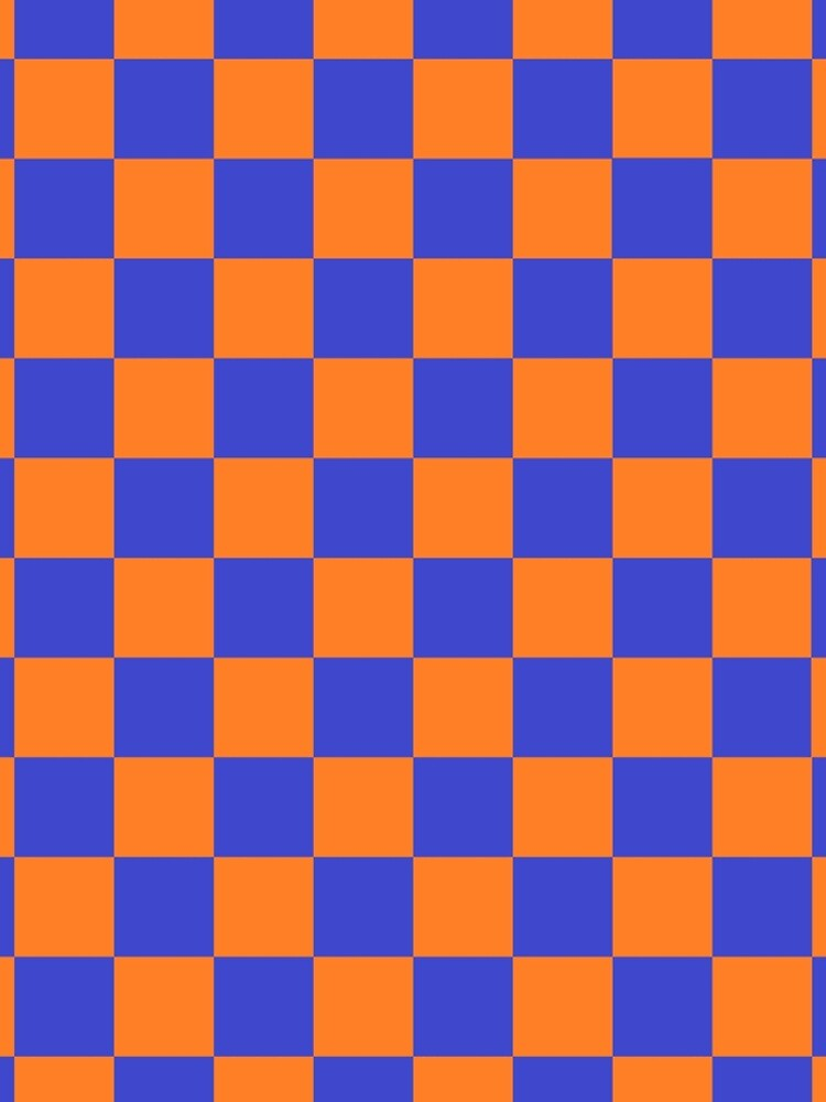 Checkered Blue and Orange  by lornakay