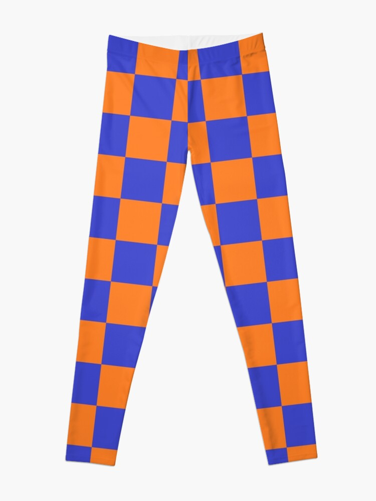 Alternate view of Checkered Blue and Orange  Leggings