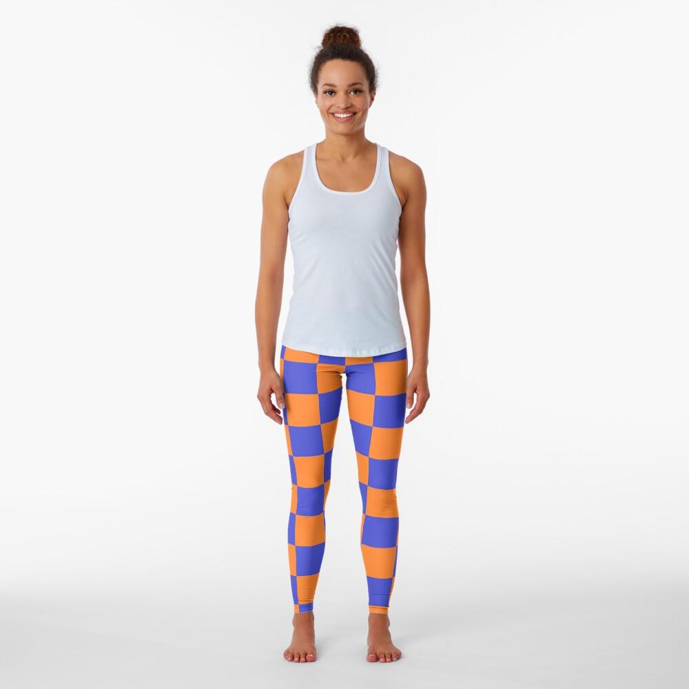 Checkered Blue and Orange  Leggings
