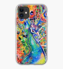 Colourful Peacock iPhone Case