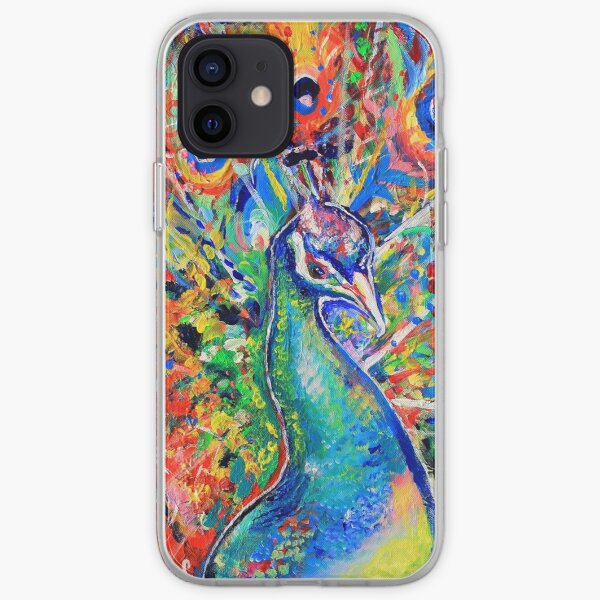 Colourful Peacock iPhone Soft Case