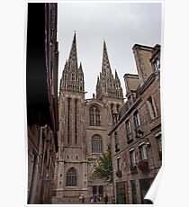 Quimper Cathedral Poster