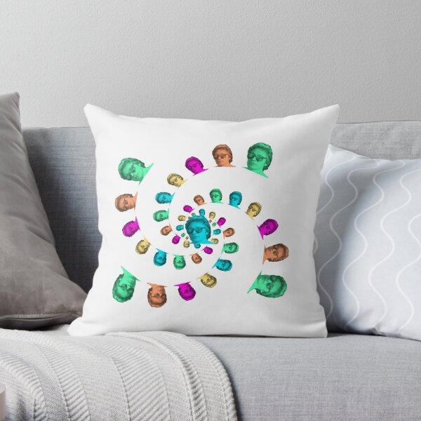Hoppewave Spiral Throw Pillow