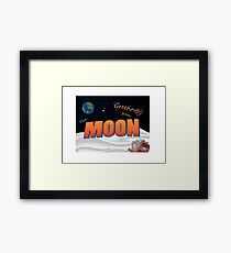 Greetings From The Moon Framed Print