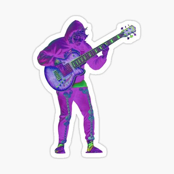 Thundercat bassist sticker (trippy version) Sticker