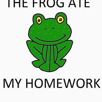 Geek Tee Me: The Frog Ate My Homework by GeekTeeMe