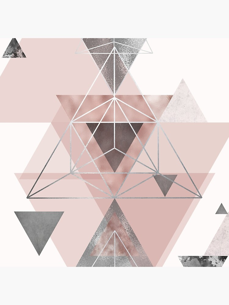 Abstract Geo in blush pink and grey by UrbanEpiphany
