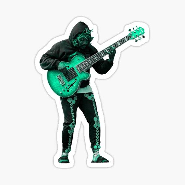 Thundercat bassist sticker (teal version) Sticker