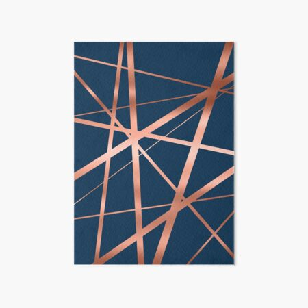 Navy and Copper Luxe Art Board Print