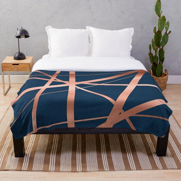 Geometric Lines Throw Blanket