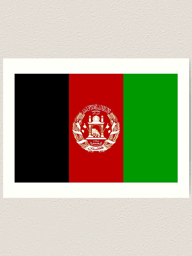 Afghanistan National Flag Art Print By Joncitone Redbubble