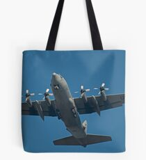 Air Force Plane ready to land. Tote Bag