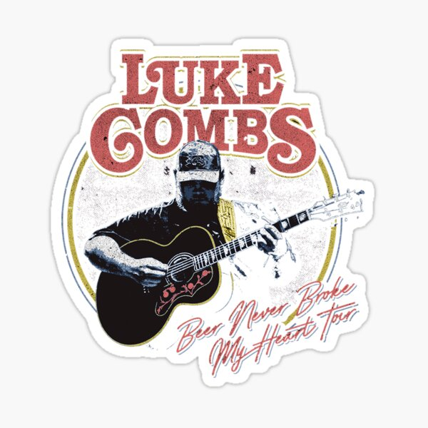 sekarang beer never luke combs my heart Sticker