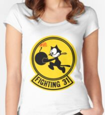 Fighting 31 - Tomcatters Women's Fitted Scoop T-Shirt