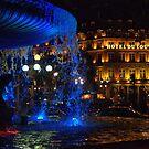 Paris - Blue fountain by Jean-Luc Rollier