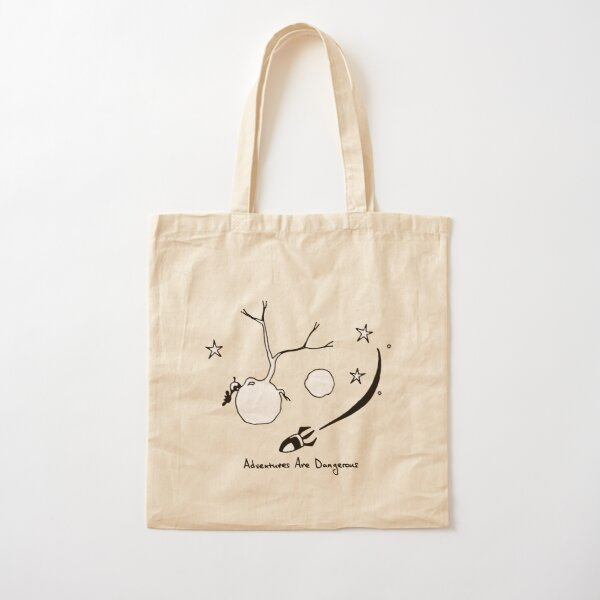Cow Watches from Small Planet as Spaceship Passes By Cotton Tote Bag