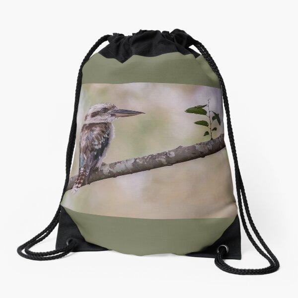 Kookaburra in Nature Drawstring Bag