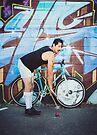 Pinup Bike Polo Cutie #6 by Jennifer Kutzleb