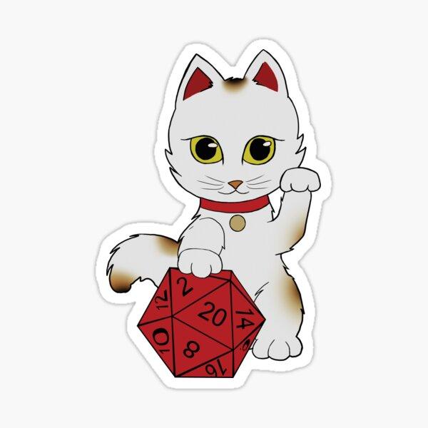 Lucky Dice Cat Sticker