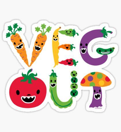 Veg Out - navy Sticker