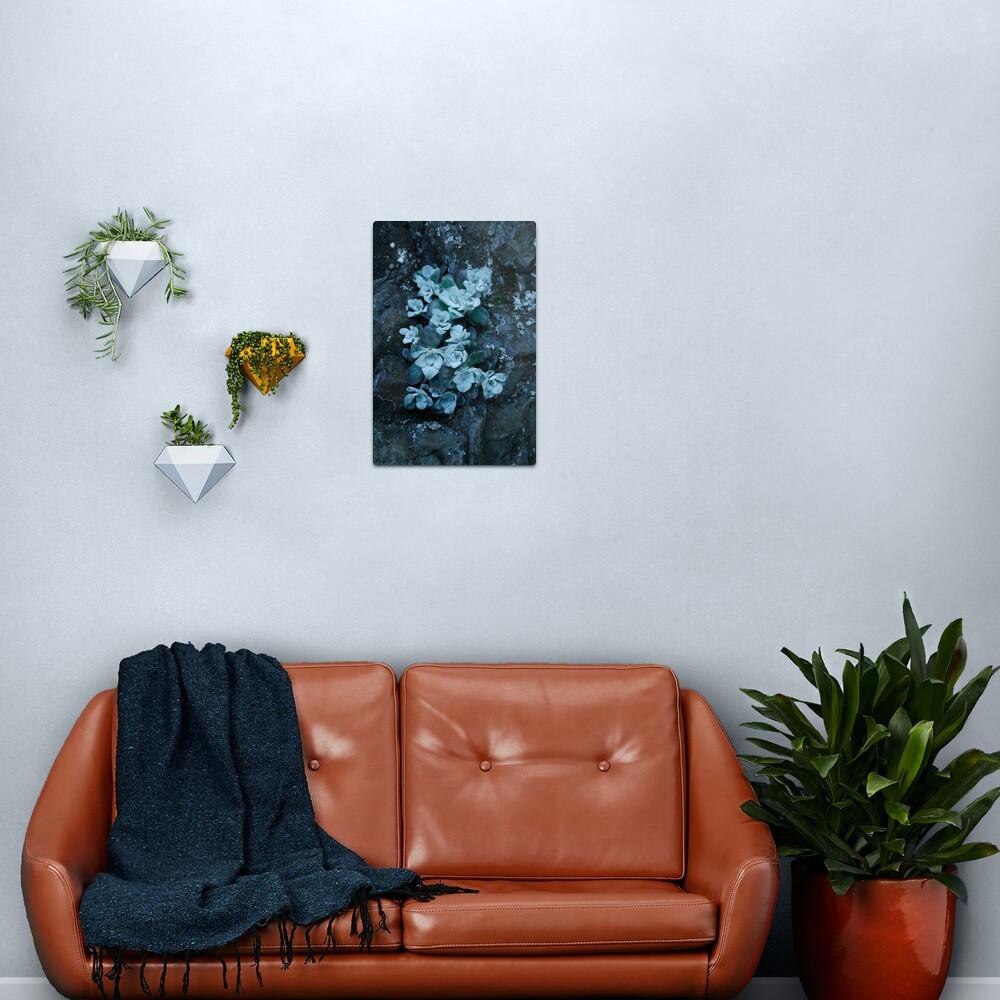 cool blue wild succulents Metal Print