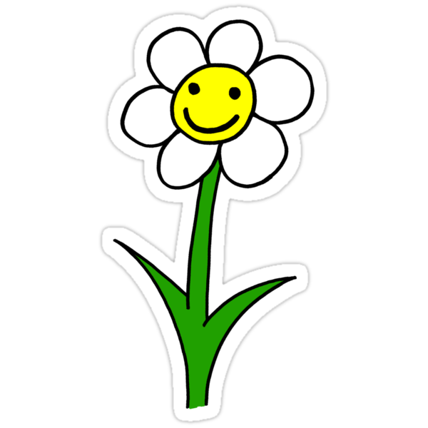 """""""Happy smiling cartoon flower"""" Stickers by ReadiesCards ..."""
