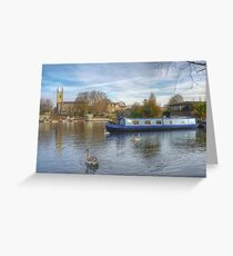 Church on the Thames Greeting Card