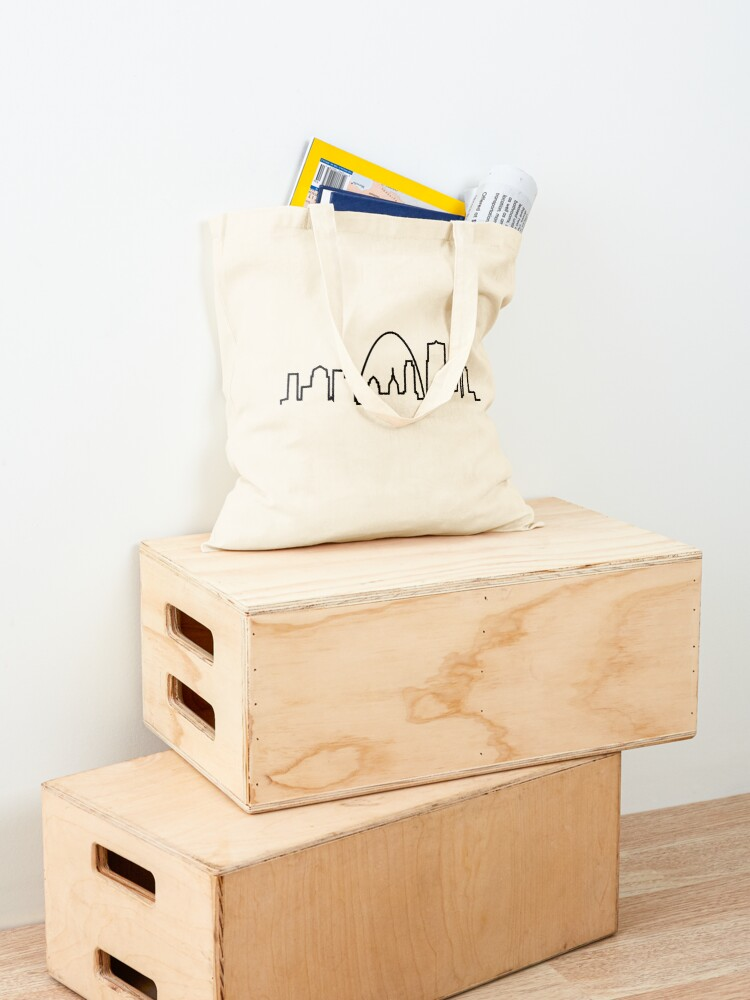 Alternate view of St. Louis City Skyline Tote Bag