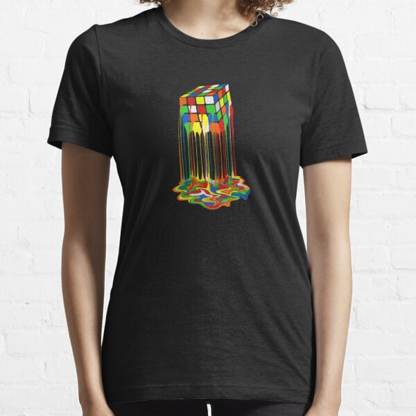 Best Seller Rainbow Abstraction Melted Rubiks Cube Merchandise Essential T-Shirt