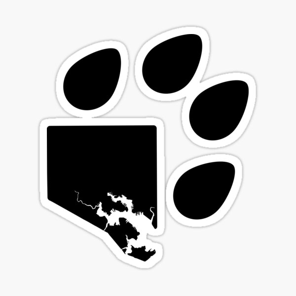 Paw City Project Icon - Black Sticker