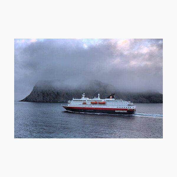 The MS 'Kong Harald' in the Hurtigruten Fleet Photographic Print