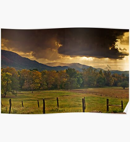 Clouds Over Cades Cove Poster