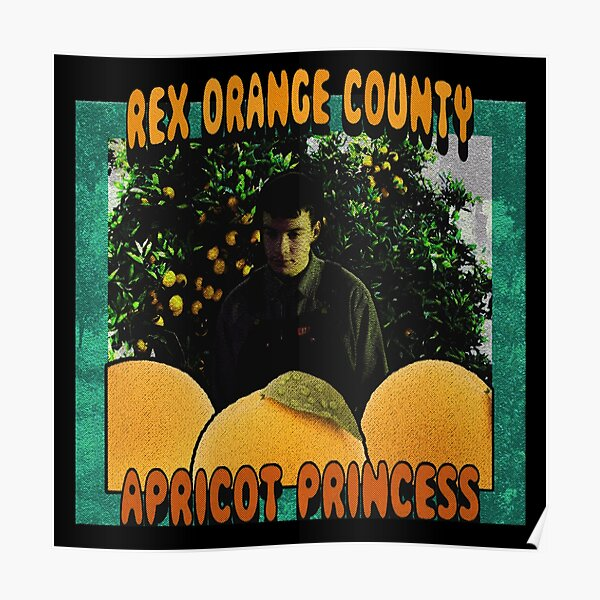 Apricot Orange Poster
