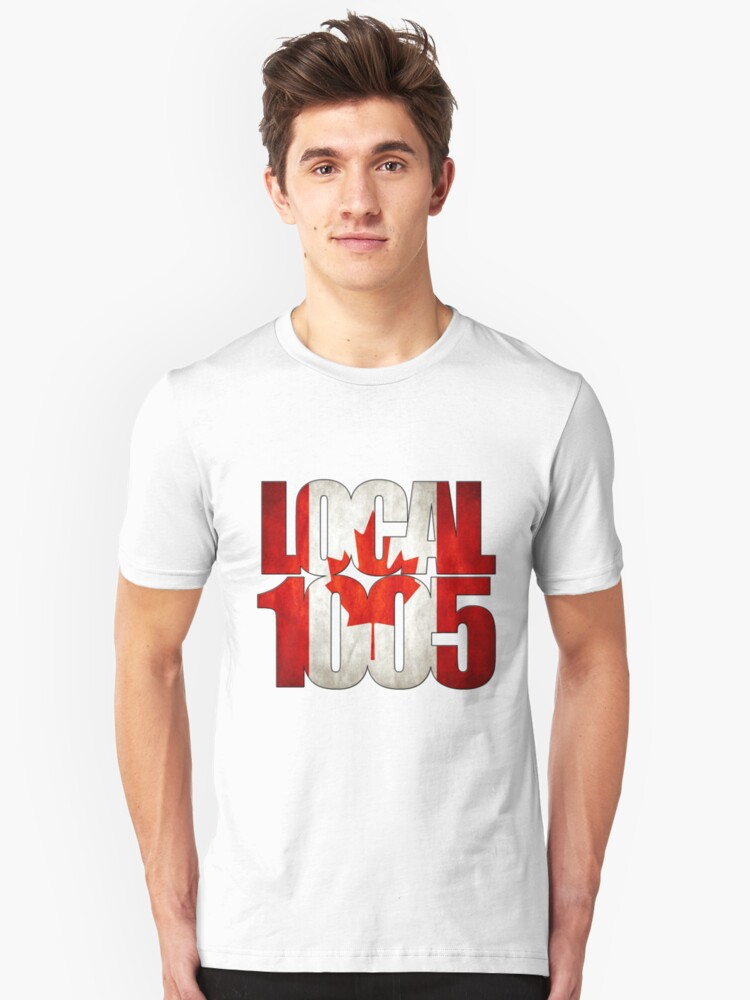 Local 1005 Canada Flag Unisex T-Shirt Front