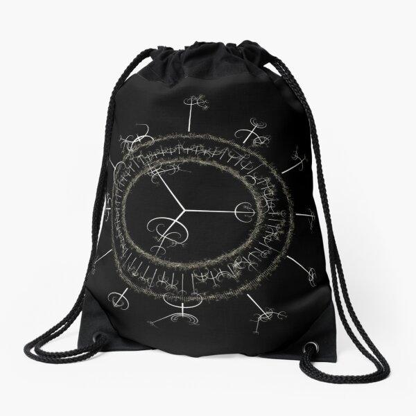 #DarkArts, #vortex, #illustration, #abstract, design, element, science, creativity Drawstring Bag
