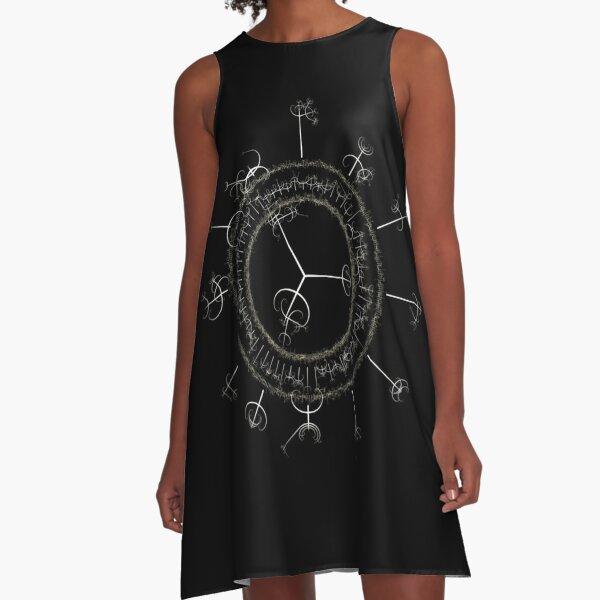 #DarkArts, #vortex, #illustration, #abstract, design, element, science, creativity A-Line Dress