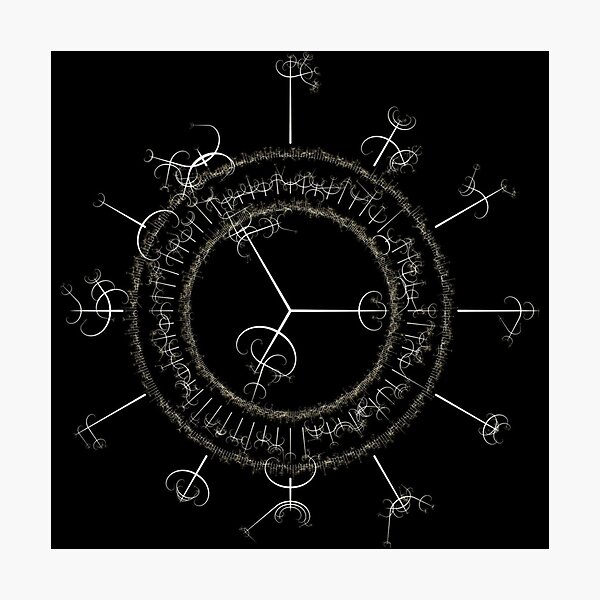 #DarkArts, #vortex, #illustration, #abstract, design, element, science, creativity Photographic Print